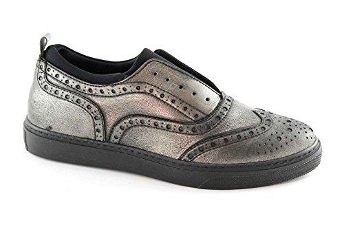 Grünland PUNT SC1465 anthracite Anglais femme chaussures sans lacets Grigio
