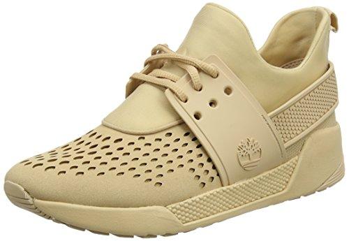 Timberland Mayport, Zapatos de Cordones Oxford para Mujer, Rosa (Crabapple Canvas with Natural Tan K41), 40 EU