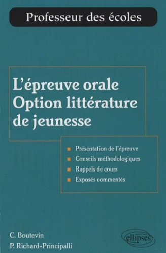 L'épreuve orale Option littérature de jeunesse