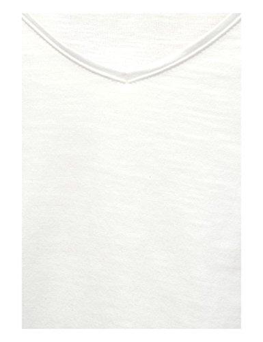 Cecil, Maglietta a Maniche Lunghe Donna Weiß (Pure Off White 10125)