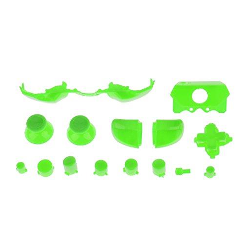 Preisvergleich Produktbild MagiDeal Erstaz Tasten Knopf Set Stoßfänger Trigger Mod für Xbox One Controller Videospiel Zubehör - Grün