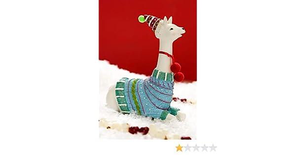 Multicolored Ganz Fa la la la llama Sitting Figurine Home Decor