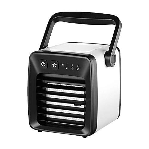 Vithconl Klimaanlage Ventilator Mini Cool Schlafzimmer Schreibtisch Tragbarer Kühler Cube Wasser USB Silent (Glas Flasche Herzstück)