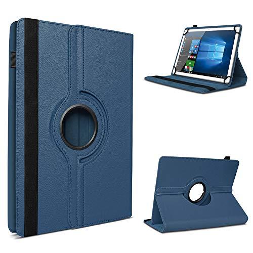 UC-Express Tablet Hülle für Blaupunkt Atlantis A10.303 Tasche Schutzhülle Case Schutz Cover 360° Drehbar 10 Zoll Etui, Farbe:Blau