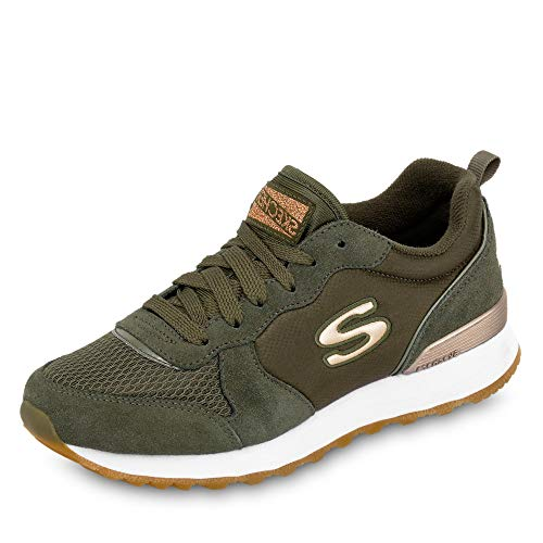 Skechers Damen Retros-og 85-goldn Gurl Sneaker, ((Olive Suede/Nylon/Mesh/Rose Gold Trim Old), 7 EU