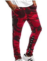 Pantalones de Camuflaje de los Hombres Pantalones Slim Fit Pantalones Rasgados Pantalones de Moda Casual de