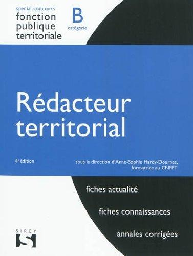 Rédacteur territorial. Catégorie B - 4...