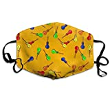 Sombrero Maracas Margarita Guitar Anti-dust Mouth Mask Face Masks Mouth Cover for Man and Woman
