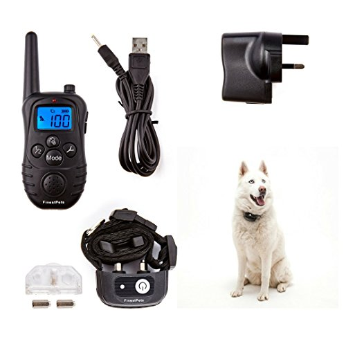 Finest-Pets-Remote-Dog-Training-Anti-Bark-Collar-for-large-and-small-dogs-Premium-Vibration-collar-offering-real-relief-for-owners-struggling-with-control-Vibrate-Beep-and-light-modes-Fully-rechargeab
