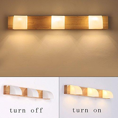 LightSeiEU Thai Norse Spiegel Frontlampe Badezimmerbeleuchtung Holzscheite japanischen minimalistischen Spiegel Frontleuchte LED Spiegelleuchten (Farbe : DREI) (Norse-anhänger)