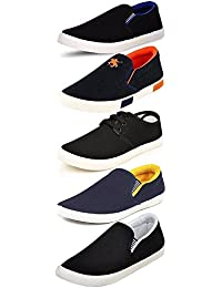 Ethics Men's Perfect Combo Pack of 5 Casual Loafer Shoes