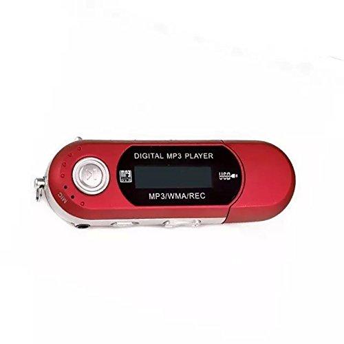 Goliton® 4GB Schwimmen Tauchen USB WMA MP3 Player FM Radio MP3 Spieler Sprachaufzeichnungsanlage mit LCD Bildschirm - Rot