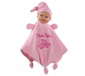 Paola Reina - Doudou, muñeca de Vinilo, 34 cm, Color Rosa (01181)