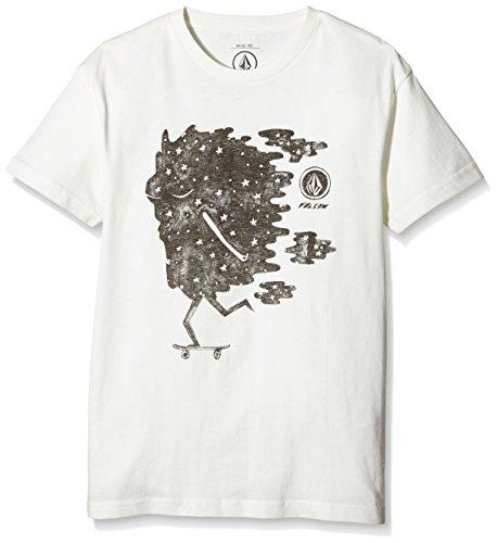 Volcom Skater Basic maglietta, Ragazzo, Skater Basic T-Shirt, Paint White, M