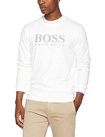 BOSS Hugo Boss Herren Sweatshirt Weiß (White 100), Medium