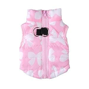 ZoonPark Winterkleidung für Hunde und Katzen, warm, gepolstert, weich, leicht, Weste für kleine bis mittelgroße Hunde