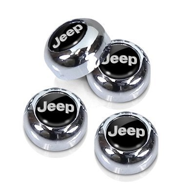 Chrome Jeep License Plate, License Frame Screw Covers