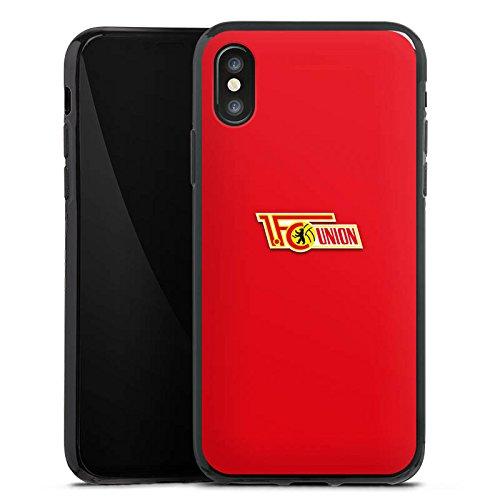 Apple iPhone X Silikon Hülle Case Schutzhülle 1. FC Union Berlin Fanartikel Fußball Silikon Case schwarz