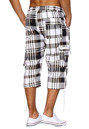 Casual Karo-muster (Herren Bermuda-Shorts · (Casual Fit/Loose Fit) Freizeit Shorts im Glen Check Karo-Muster für den Sommer · H1904 von Max Men)