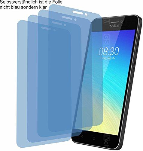 4ProTec 4X Crystal Clear klar Schutzfolie für TP-Link Neffos Y5s Bildschirmschutzfolie Displayschutzfolie Schutzhülle Bildschirmschutz Bildschirmfolie Folie