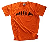Scooterist Rollerfahrer Vespa Scooter Motorroller Evolution T-Shirt Orange L