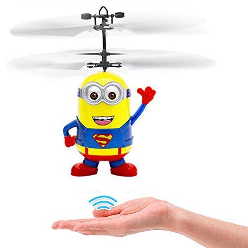 Kinder Flying Toys, Fliegen Ball, RC Infrarot Induktion Hubschrauber Ball Eingebaute Shining Farbe ändern LED-Beleuchtung für Kinder, Jugendliche (Rot)