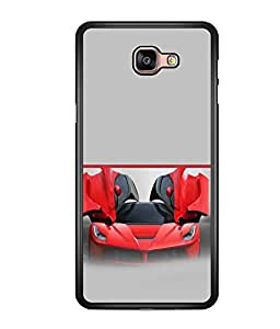 printtech Red Superfast Car Back Case Cover for Samsung Galaxy A9 (2016)