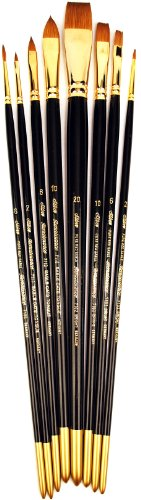 Silver Brush JHS-508 John Howard Sanden Red Sable Starter Brush Set, 8 Per Pack by Silver Brush Limited -