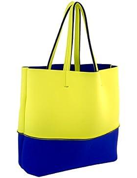 Leghila ,  Strandtasche mehrfarbig gelb/blau