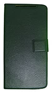 Zocardo Faux Leather Flip Case Flip Diary Cover For Gionee Ctrl V4S -Black With Stand Magnetic Lock