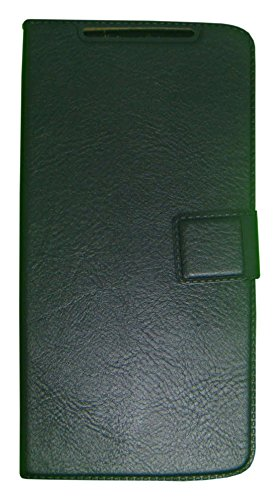 Zocardo Faux Leather Flip Case Flip Diary Cover For Spice Mi-498 Dream Uno Android One -Black With Stand Magnetic Lock  available at amazon for Rs.399