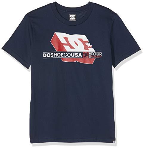 DC Shoes Jungen Ruler T-Shirt, Schwarz (Black Iris Btl0), Jahre (Herstellergröße: 12/M) -