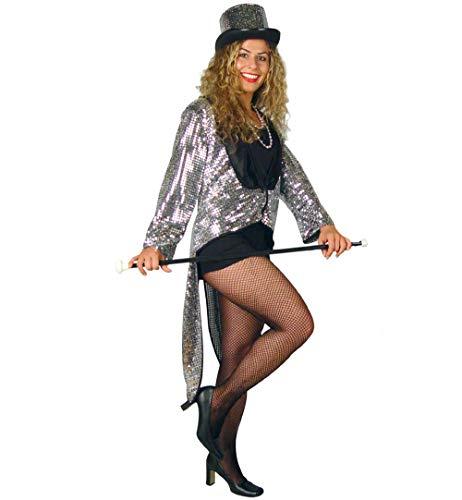 Showgirls Für Kostüm Erwachsene - KarnevalsTeufel Damenkostüm Gala Frack Showgirl Partygirl Galamoderatorin Kostüm für Erwachsene (42)