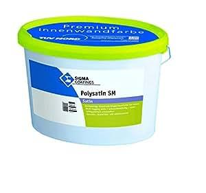 Smalto murale per interno satinato certificato HACCP SIGMA POLYSATIN vari formati - LT.5