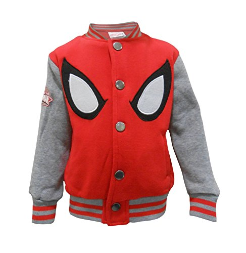 Marvel Ultimate Spider-Man Jungen Baseball Varsity Jacke (98) - Varsity Baseball