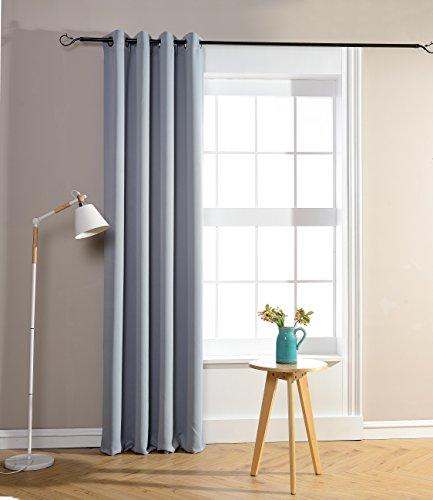 Rideaux occultant gris clair 140 x 260 cm