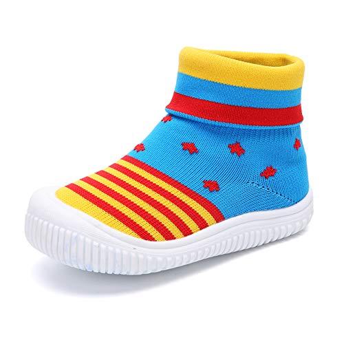 Bebé Niños Niñas Niños Zapatos Anti Deslizante Zapatillas Primera Infancia Calcetines de...