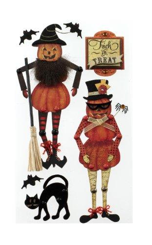 Jolee's Boutique dreidimensionale Aufkleber, bewegliche Halloween-Kürbislaterne