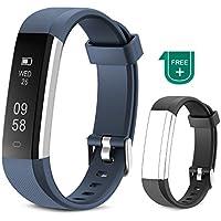 Muzili Pulsera de Actividad Inteligente Fitness Tracker Impermeable Pulsera Actividad Reloj Deportivo con Podometro/Monitor de sueño/Notificación de Llamadas para Niños, Mujeres y Hombres(Azul)