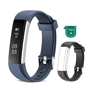 Muzili Fitness Armband Wasserdicht Fitness Tracker Sport Armband Touchscreen Fitness Armbanduhr mit Schrittzähler/Schlafmonitor/Anruf Nachricht Benachrichtigung für Kinder Frauen Männer