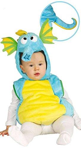 Kind Seepferdchen Kostüm - Baby Seepferdchen - Kostüm für Kinder Gr. 86 - 98, Größe:86/92