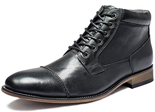 SimpelC Herren Formale Tilden Kappe Seitenreiß Leder Knöchel Oxford Stiefel Sch46
