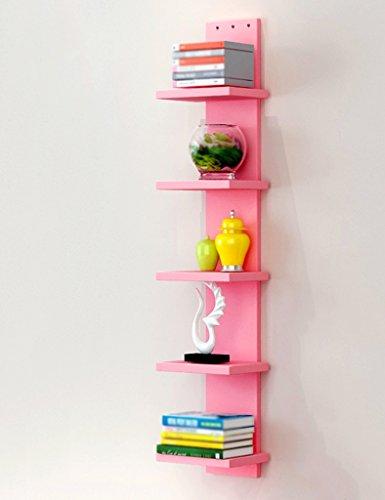ZCJB Wandregale Hängenden Wand Schlafzimmer Kreative Bücherregal Wohnzimmer Wandregal Moderne Einfache Wandbehang Bücherregal ( Farbe : Pink )
