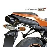 Escape Mivv Suono Kawasaki ZX-6R 07-08 Acero inoxidable con tapa terminal de Carbono (Underseat)