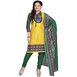 Florence Women's Dress Material (SB-1214-02_Yellow_Freesize)