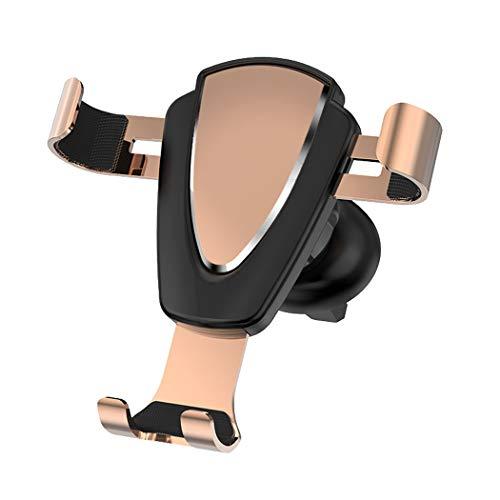 ZYNENMetall Handy Halterung Auto Outlet Schwerkraft Sensing Auto Halterung für iPhone Xr, Xs, X, Samsung Hinweis 9, S9, Huawei, Sony, HTC,Gold -