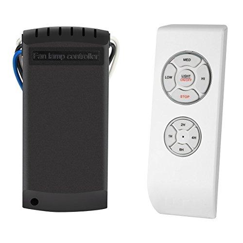 SAGESSE Control remoto para ventilador de techo Controlador de lámpara de ventilador,Kit de control remoto inalámbrico de lámpara de luz de techo universal de la lámpara