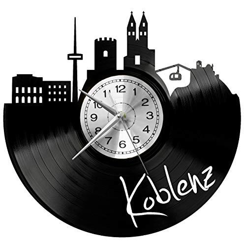 WoD Koblenz Wanduhr Vinyl Schallplatte Retro-Uhr groß Uhren Style Raum Home Dekorationen Tolles Geschenk Uhr
