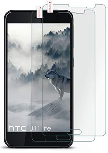 moex 2X 9H Panzerfolie für HTC U11 Life | Panzerglas Bildschirm Glasfolie [Tempered Glass] Screen Protector Glas Bildschirmschutz-Folie für HTC U11 Life Schutzfolie