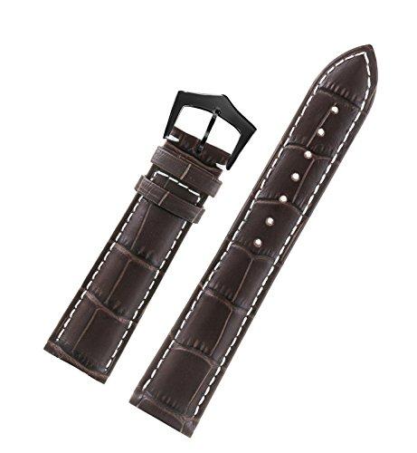 12mm-narrow-ladies-dark-brown-watch-strap-high-end-italian-calfskin-leather-white-contrasting-stitch